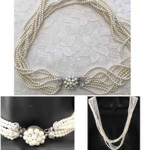 Jewelry - Vintage Art Deco Gatsby Pearl Statement Necklace